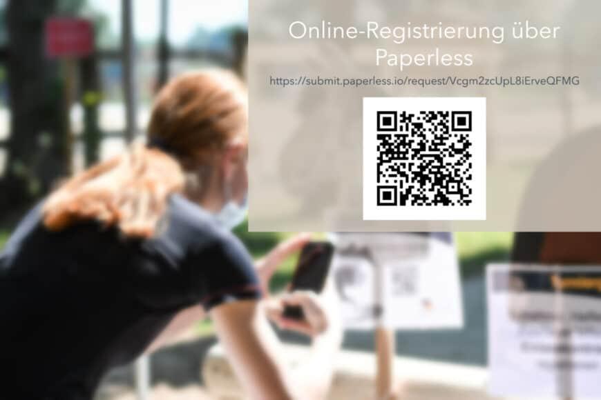 Einlasskontrolle mit Online-Registrierung